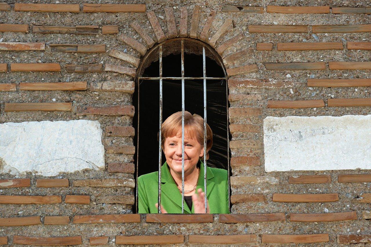 Merkel freut sich über ihren Ausblick aus chinesischem Hotel